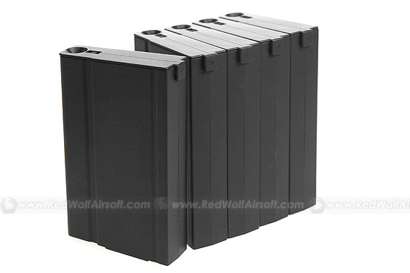 King Arms 110rds Magazine Box Set (5 pieces) for Marui M14