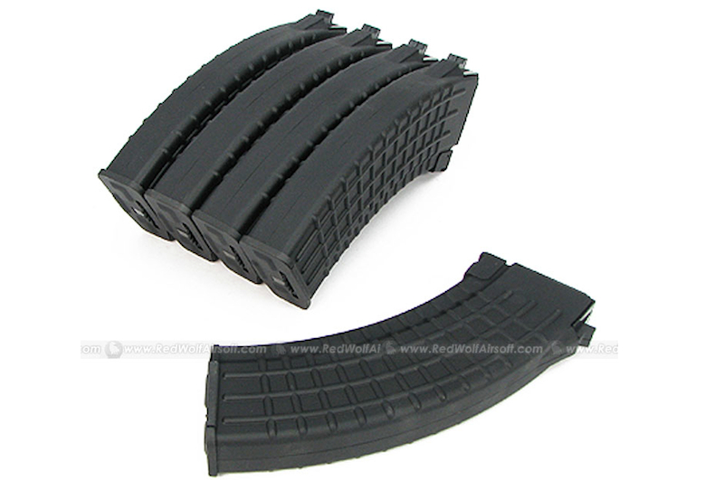King Arms 600rds Waffle Mag for Marui AK Series Box Set 5pcs