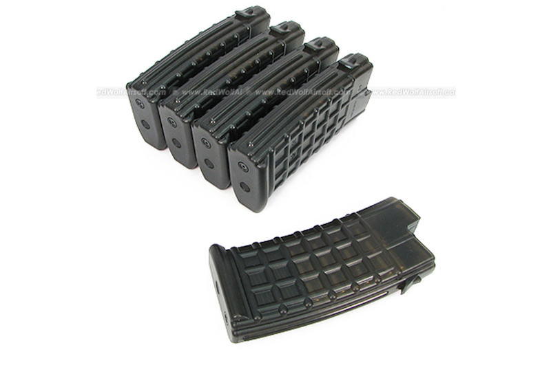 King Arms 45rds Mag for Marui AUG Box Set 5pcs