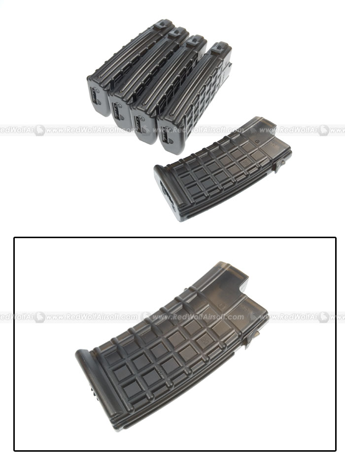 King Arms 330rds Mag for Marui AUG Box Set 5pcs