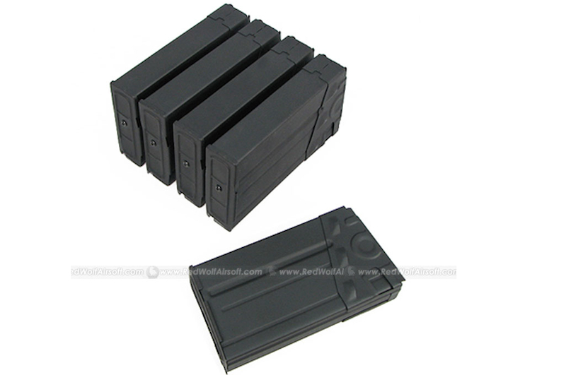 King Arms 500rds Mag for Tokyo Marui G3 Box Set 5pcs <font color=yellow>(Clearance)</font>