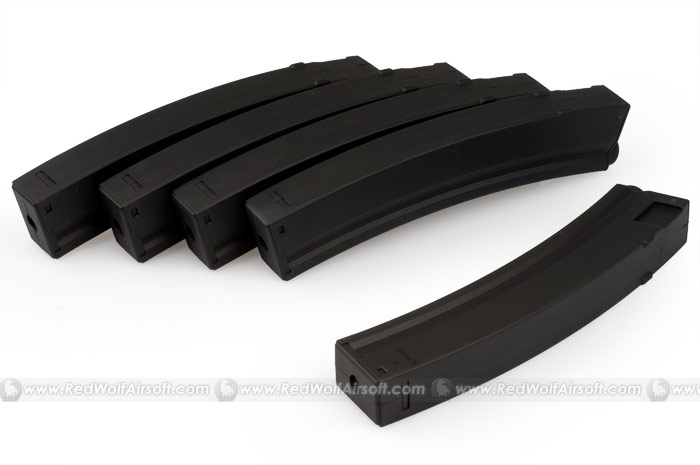 King Arms 100rds Magazine for Marui NP5 Series (5pcs Box Set)