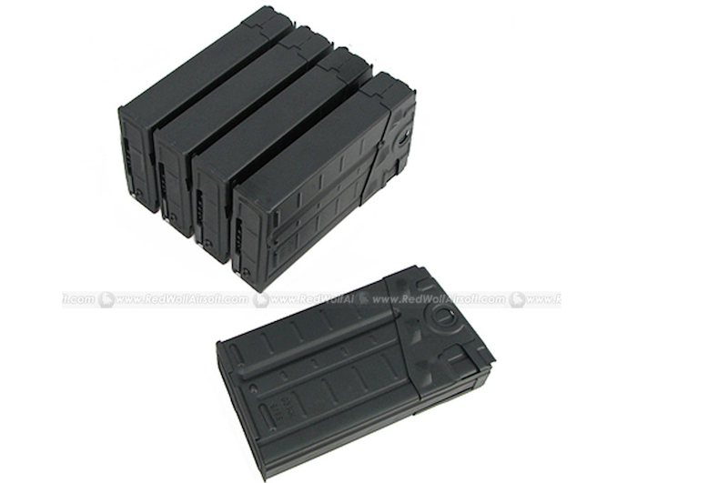 King Arms 500rds Mag for Marui HK Style G3 Box Set 5pcs