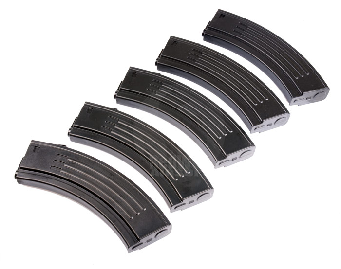 King Arms 100rds AK Style Magazine for Marui M4/16 Series (5pcs Box Set)