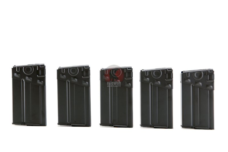 King Arms 130 rds Magazine Box Set (5pcs/set) for Tokyo Marui G3 Series