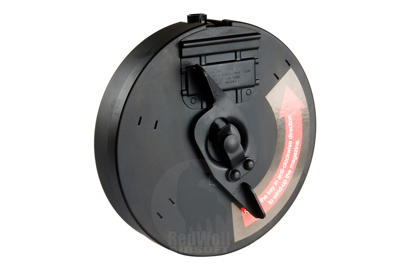 King Arms 450 Rounds Drum Magazine for King Arms Thompson Series (Black)