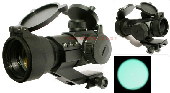 King Arms Red Dot Scope Set with Quick Release Ring Mount for 20mm Rail