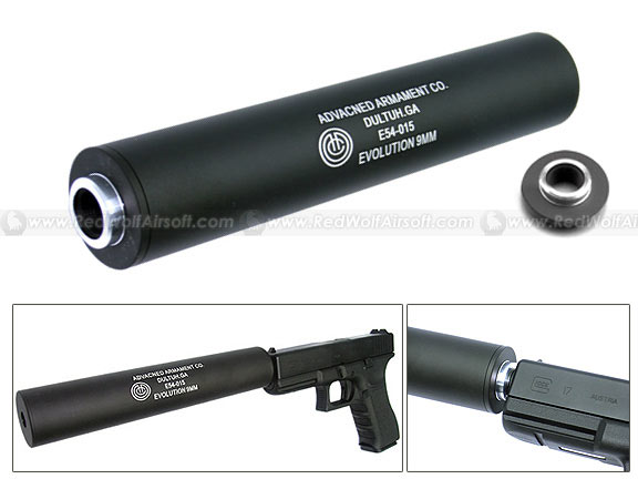 King Arms AAC Silencer 9mm Marking (14mm CW/CCW)