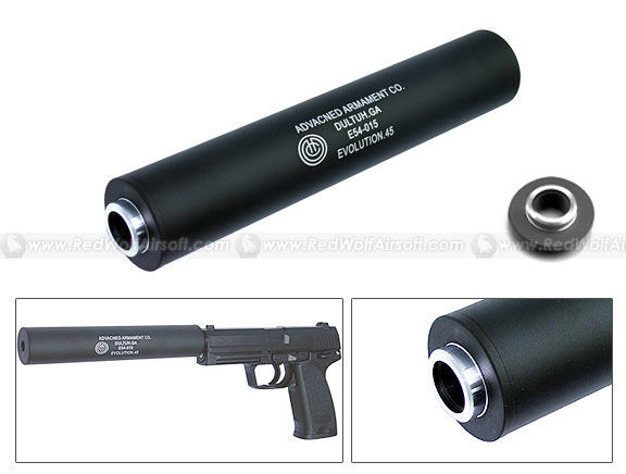 King Arms AAC Silencer .45 Marking (14mm CW/CCW)
