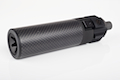 King Arms Power Up Carbon Fiber Shorty Silencer for KSC/KWA MP7