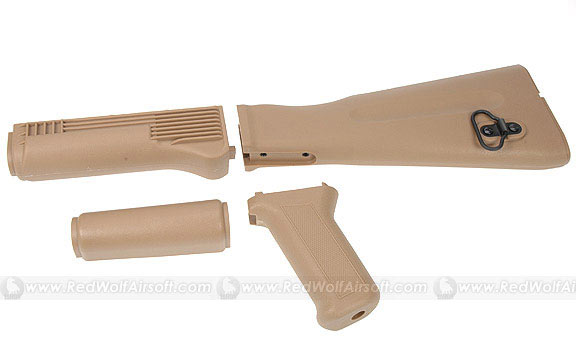 King Arms AK74M Style Handguard/Grip/Stock (Tan)