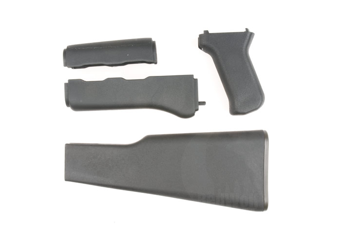 King Arms Tactical Handguard Grip and Stock Set for AK47 Marui AEGs (Black)