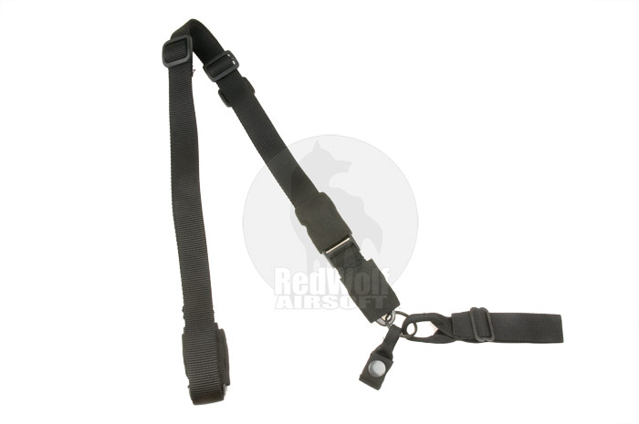 King Arms Tactical Single Point Sling (Black)
