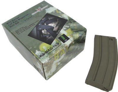 King Arms M16 120rds Mag Box Set (5pcs) for Marui M16 (OD)