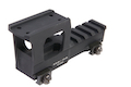 Knight's Armament Airsoft Aluminum High Rise Mount (for T1 / T2 Airsoft Red Dot Sight) - Black (by Dytac)