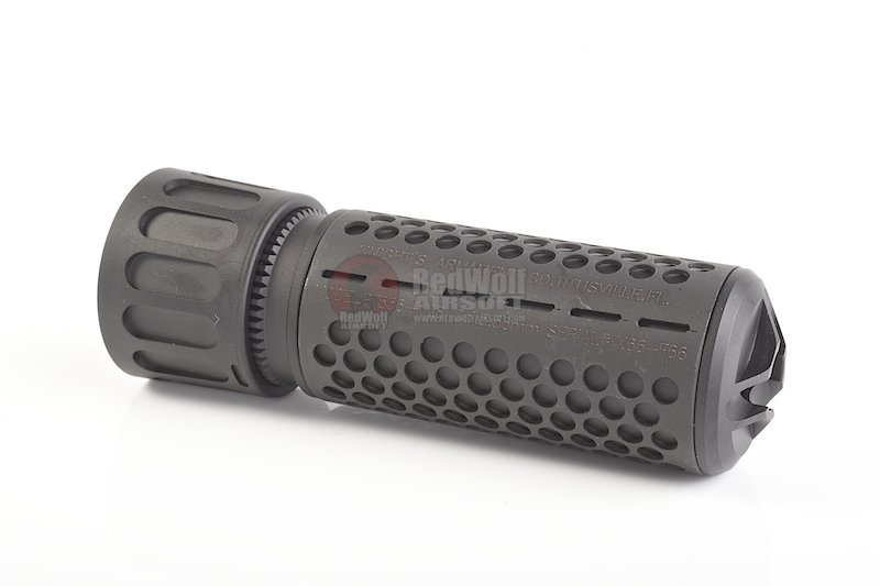 Knight's Armament Airsoft 556 QDC / CQB Airsoft Suppressor w/ Quick Detach Function (14mm CW) - BK