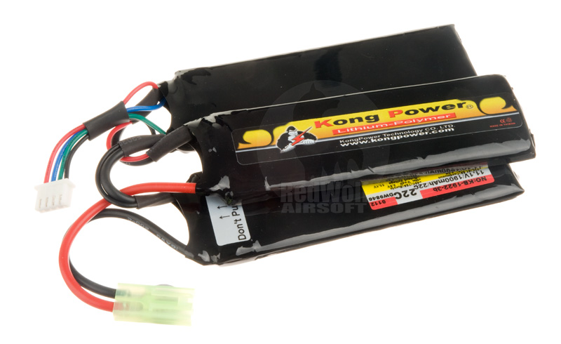 Kong Power Lithium-Ion 1900 mAh 22C continuous 11.1v - Split Pack <font color=yellow>(Clearance)</font>