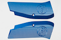 KJ Works CZ Logo Aluminium Hand Grip for CZ SP-01 Shadow - Blue