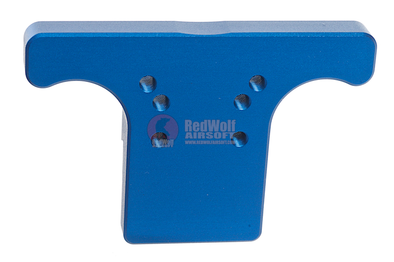 KJ Works Rear Sight Plate for CZ SP-01 Shadow - Blue