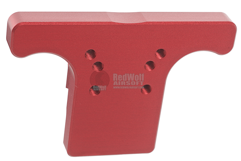 KJ Works Rear Sight Plate for CZ SP-01 Shadow - Red