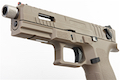 KJ Works KP-13F Full Auto Metal Slide Co2 Pistol (w/ Thread Barrel & Cap) - TAN