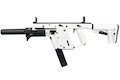 KRYTAC KRISS Vector Limited Edition 'Alpine White' AEG SMG (with Mock Suppressor)
