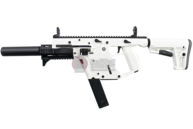 KRYTAC KRISS Vector Limited Edition 'Alpine White' AEG SMG Rifle (with Mock Suppressor)