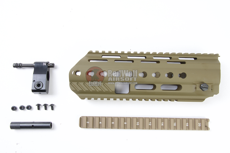 Angry Gun L85A3 Conversion Kit for G&G AEG Version (included Rail System,Top Rail,Gas Block & Gas Piston)
