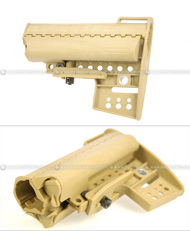 Laylax Retractable Stock VL for Marui M4 / M16 (Sand)