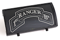 Custom Gun Rails (CGR) Aluminum Rail Cover (1ST Ranger Battalion Scroll, Large Laser Engraved Aluminum) - BK Retainer <font color=yellow>(Clearance)</font>