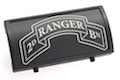 Custom Gun Rails (CGR) Aluminum Rail Cover (2ND Ranger Battalion Scroll, Large Laser Engraved Aluminum) - BK Retainer  <font color=red>(HOLIDAY SALE)</font>