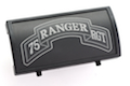 Custom Gun Rails (CGR) Aluminum Rail Cover (75 Ranger Regiment Scroll, Large Laser Engraved Aluminum) - BK Retainer <font color=yellow>(Clearance)</font>