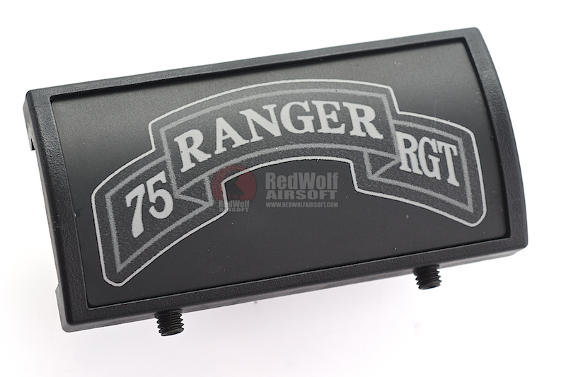 Custom Gun Rails (CGR) Aluminum Rail Cover (75 Ranger Regiment Scroll, Large Laser Engraved Aluminum) - BK Retainer