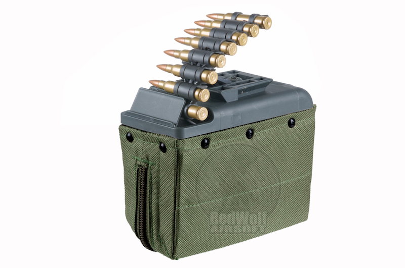 ARES LMG Box 1100rd Magazine - Green