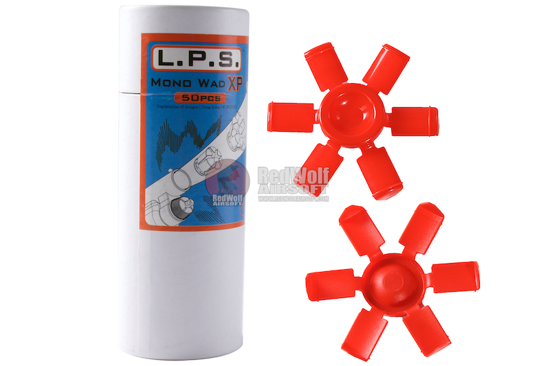 L.P.S. Mono Wad XP (50pcs per can) for APS CAM MK2 & X power Shells Cartridge - Red
