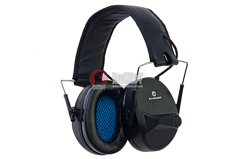 Earmor Sport Shooting Electronic Hearing Protector with AUX Input - Black
