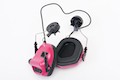 Earmor Hearing Protection Ear-Muff Helmet Version - Pink
