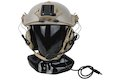 Earmor Tactical Hearing Protection Helmet Version Ear-Muff - TAN