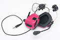 Earmor Tactical Hearing Protection Helmet Version Ear-Muff - Pink