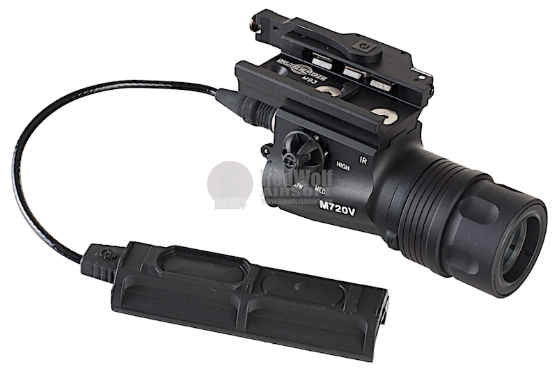 Surefire M720V RAID Weapon Light (15/150 Lumens / 120mW) - White and IR Output (Black)