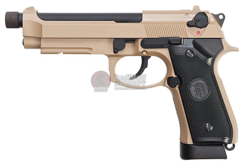 KJ Works M9A1 Full Metal Co2 Pistol  (Threaded Barrel Version) - TAN
