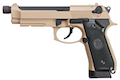 KJ Works M9A1 Full Metal GBB Pistol  (Threaded Tip Version) - TAN