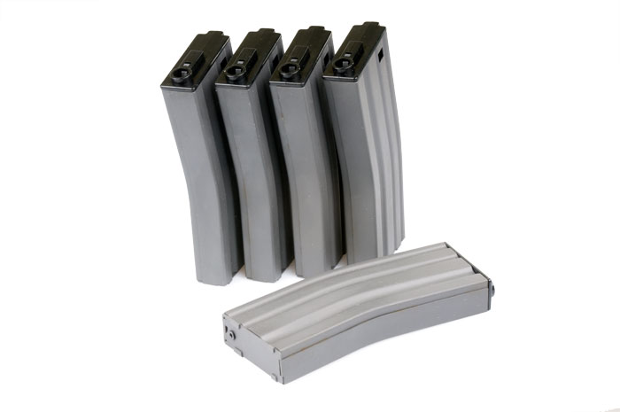 MAG 190rds Metal Magazine for M4 / M16 (Box Set of 5)