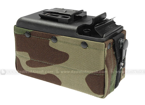 MAG 2500rds Cartridge Pouch Magazine for M249 (Woodland) - Fits TOP / CA