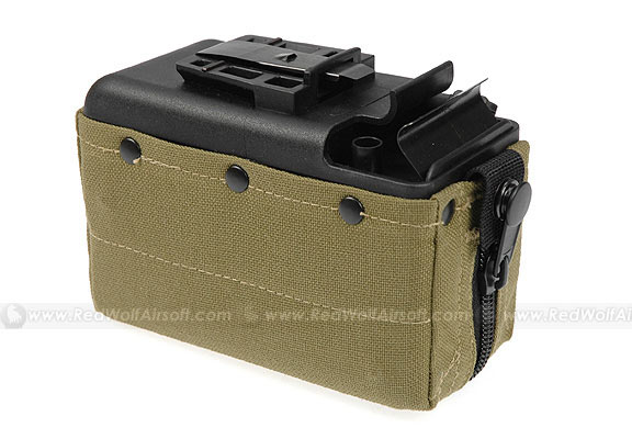 MAG 2500rds Cartridge Pouch Magazine for CA M249 (Khaki)