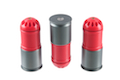MAG 120rds 40mm Airsoft Cartridge Box Set (3 pack) (Red)