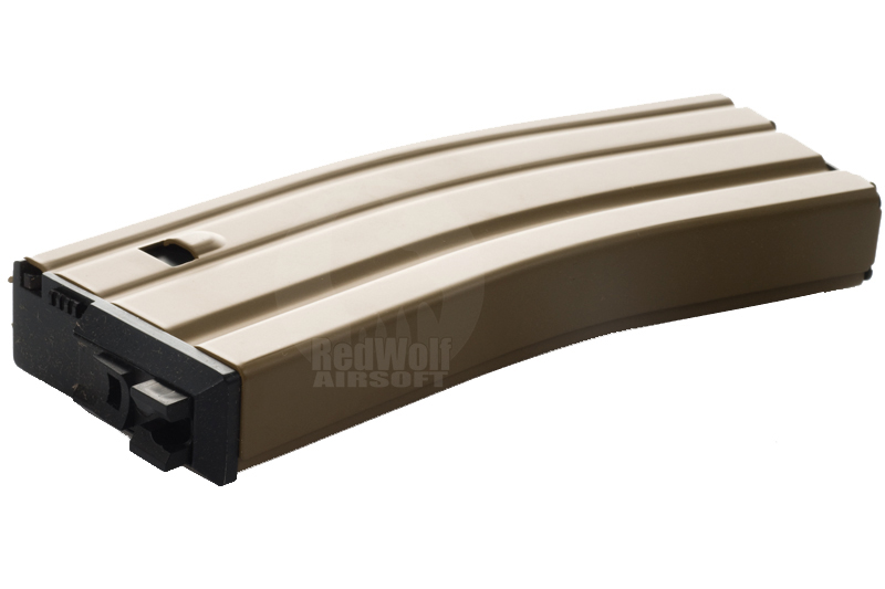 WE 30rd Magazine for M4 / SCAR / L85 Magazine (Tan) (OPEN BOLT Version)