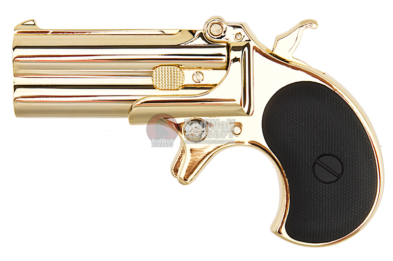 MAXTACT Derringer Full Metal Double Barrel 6mm GBB Pistol - Gold