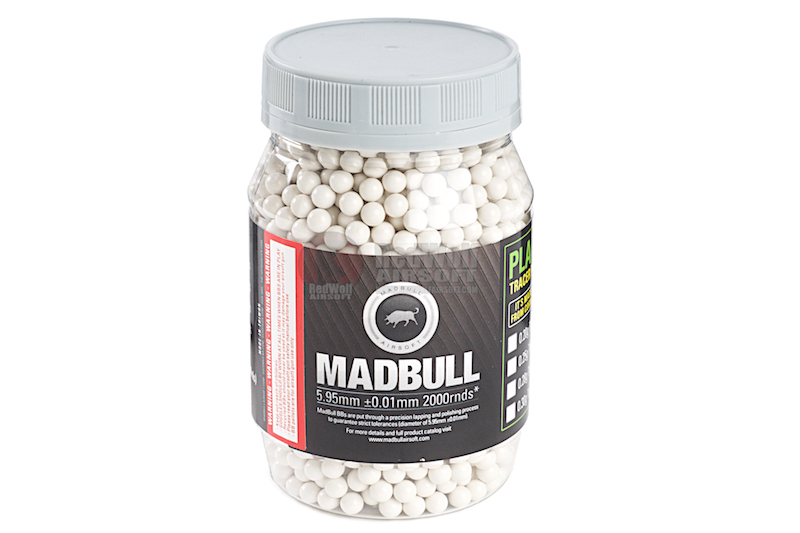Madbull 0.45g Heavy BB for Snipers (2000rds / Bottle) - White Color