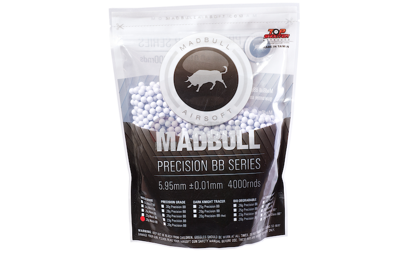 Madbull Precision 0.2g Match Grade BB 4000 rds (Bag)